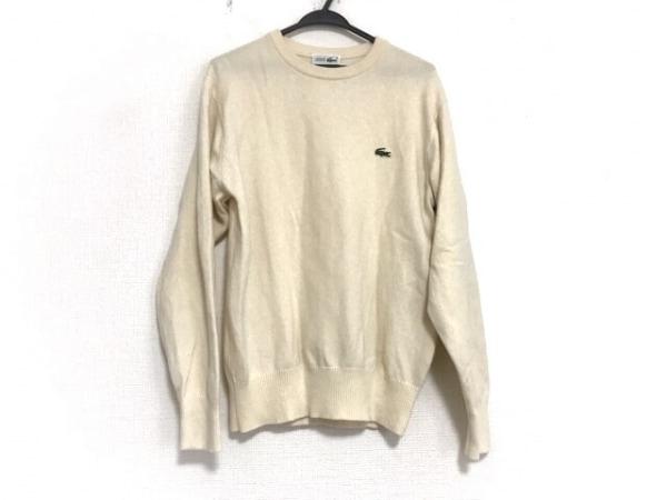 Lacoste(ラコステ) 長袖セーター サイズ4 XL メンズ美品  アイボリー CHEMISE