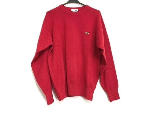 Lacoste(ラコステ) 長袖セーター サイズ4 XL メンズ美品  レッド CHEMISE