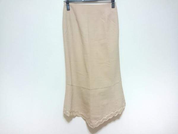 KEITA MARUYAMA(ケイタマルヤマ) ロングスカート レディース ベージュ フリル/刺繍
