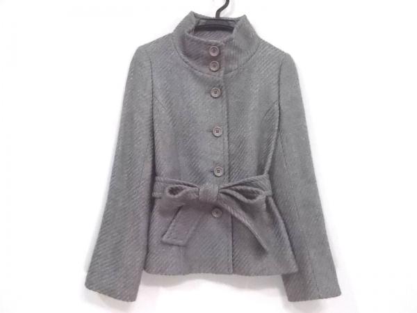 ICB(アイシービー) コート サイズ9 M レディース新品同様  グレー ショート丈/冬物