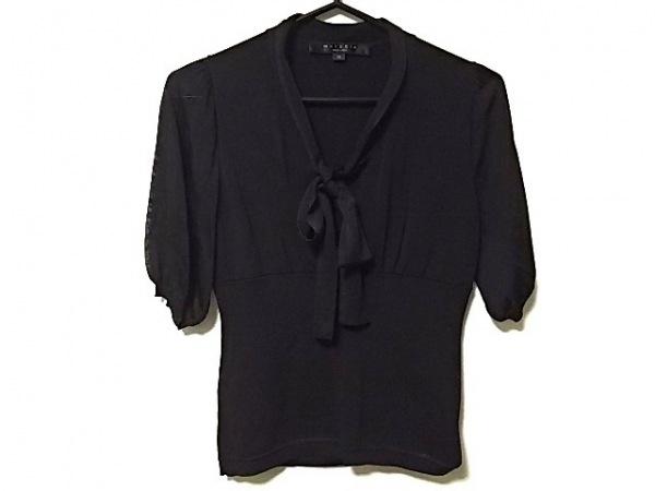 MATERIA(マテリア) 半袖セーター サイズ38 M レディース 黒 リボン