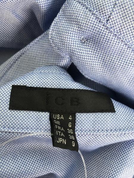 ICB(アイシービー) ワンピース サイズ9 M レディース美品  ブルー×グレー