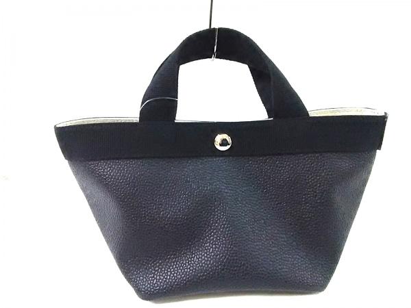 エルベシャプリエ トートバッグ 黒 ミニサイズ PVC(塩化ビニール)×キャンバス