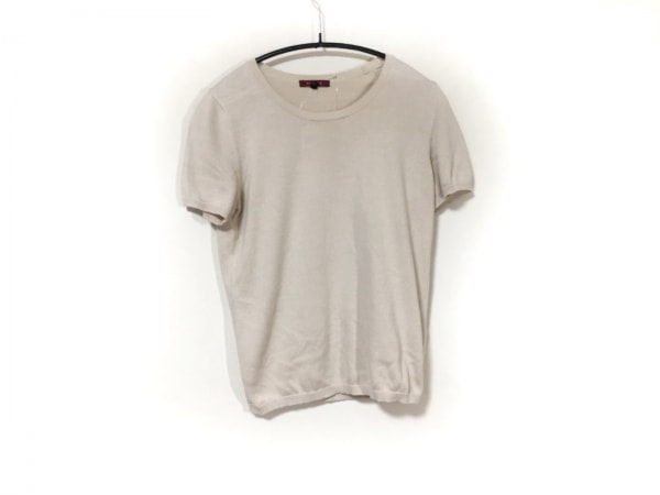 AMACA(アマカ) 半袖セーター サイズ38 M レディース アイボリー