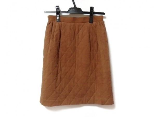 FOXEY(フォクシー) スカート サイズ40 M レディース美品  ブラウン キルティング