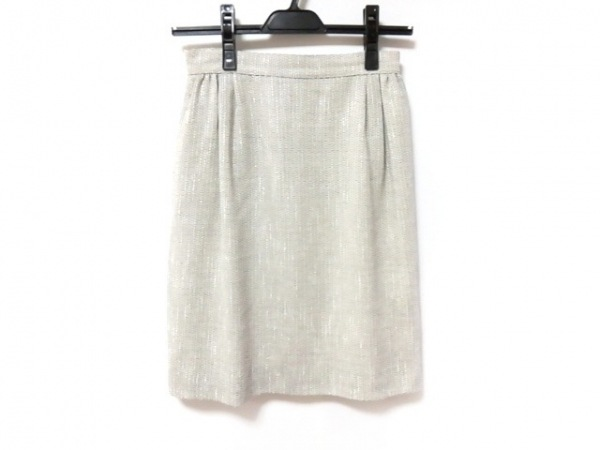 FOXEY(フォクシー) スカート サイズ38 M レディース美品  アイボリー×黒