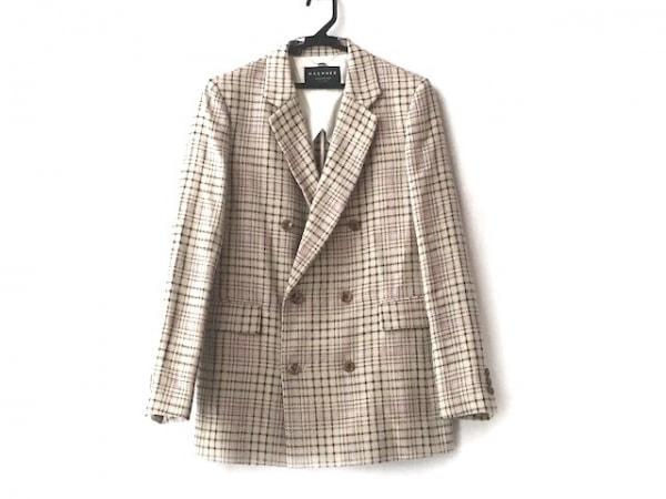 マカフィ ジャケット サイズ36 S レディース美品  ベージュ×黒×マルチ チェック柄