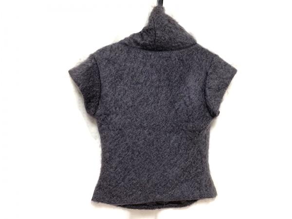 アニエスベー 半袖カットソー サイズ38 M レディース美品  ダークグレー ハイネック