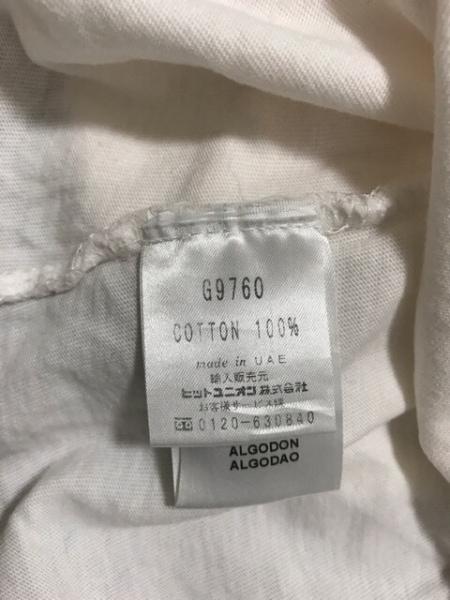 フレッドペリー ノースリーブカットソー サイズ8 M レディース 白×ブルー リボン