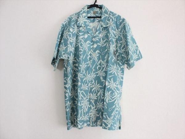mont-bell(モンベル) 半袖シャツ サイズL メンズ美品  ライトブルー×白
