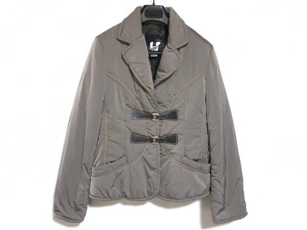 LesCopains(レコパン) ダウンジャケット サイズ40 M レディース美品  グレーベージュ