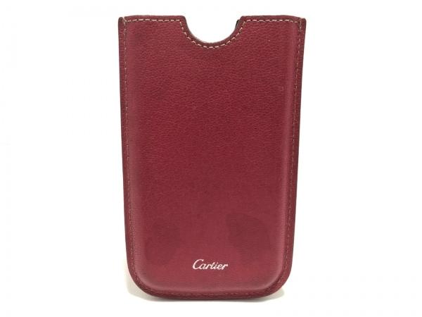 Cartier(カルティエ) 携帯電話ケース - レッド レザー