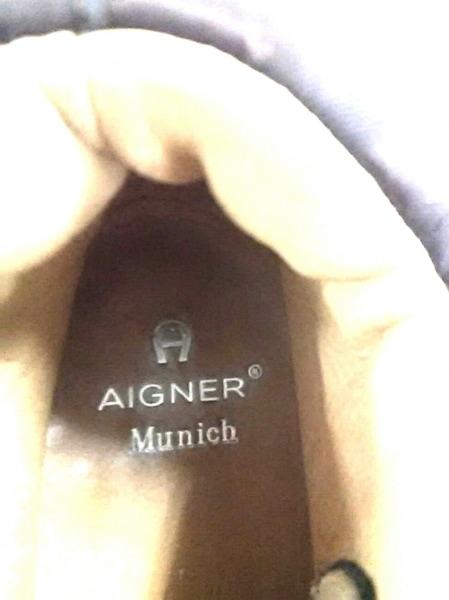 AIGNER(アイグナー) シューズ 38 レディース美品  ダークブラウン Munich ナイロン