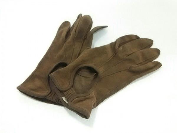 GIORGIOARMANI(ジョルジオアルマーニ) 手袋 レディース ダークブラウン スエード
