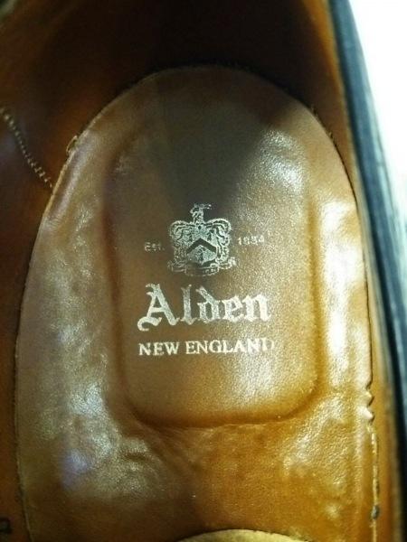 Alden(オールデン) シューズ 8 メンズ美品  黒 アウトソール張替済 レザー