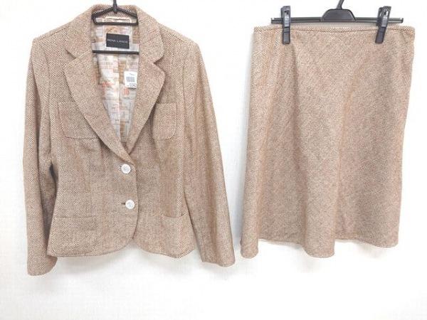 RENA LANGE(レナランゲ) スカートスーツ サイズ48 XL レディース美品  ダークブラウン