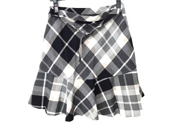 ブルーレーベルクレストブリッジ スカート サイズ38 M レディース美品  チェック柄