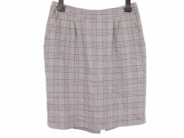 TOCCA(トッカ) スカート サイズ4 S レディース美品  黒×白 チェック柄