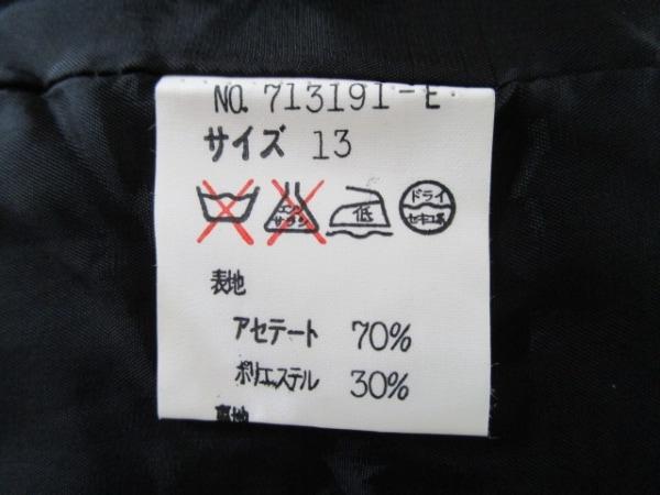 イタリヤ ジャケット サイズ13 L レディース 黒 Madam Goji/フリル