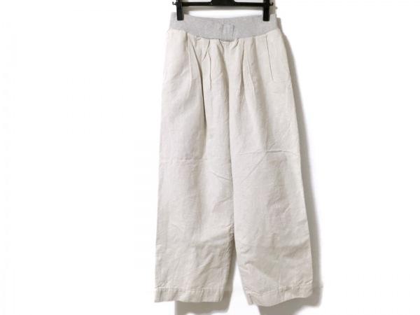 tumugu(ツムグ) パンツ サイズF レディース アイボリー×ライトグレー