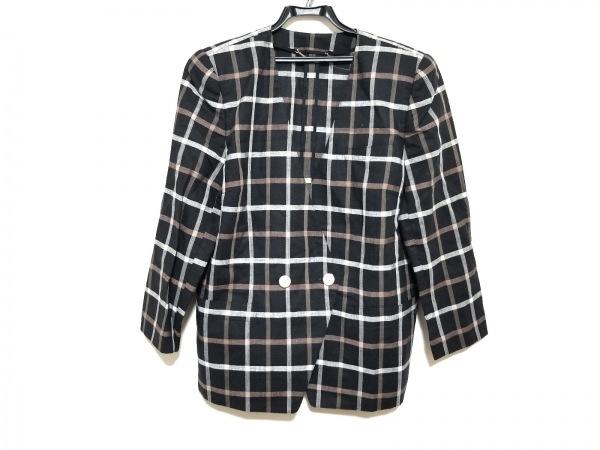 Leilian(レリアン) ジャケット サイズ13+ S レディース美品  黒×白×ブラウン