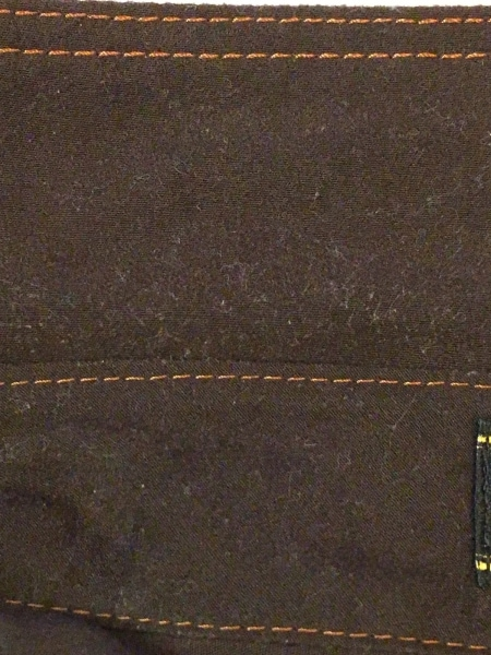 レリアン 長袖シャツブラウス サイズ13 L レディース ダークブラウン×オレンジ