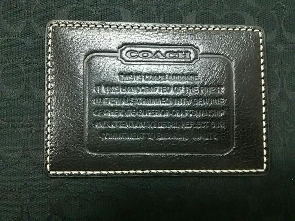 COACH(コーチ) キャリーバッグ ミニシグネチャー柄 - 黒 ジャガード×レザー