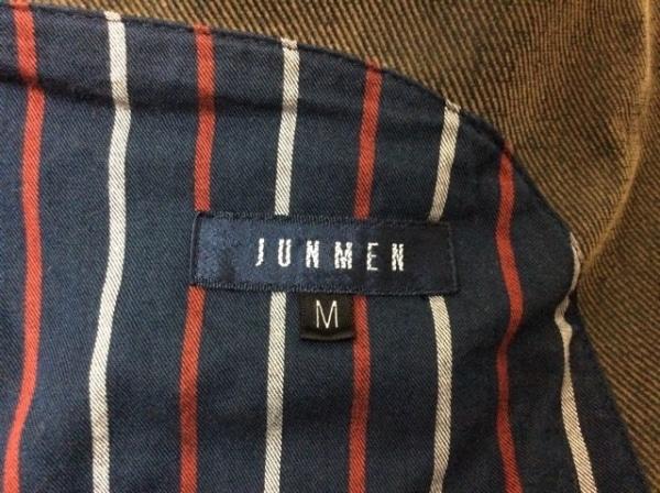 JUN MEN(ジュンメン) コート サイズM メンズ ダークグレー 冬物/コーデュロイ