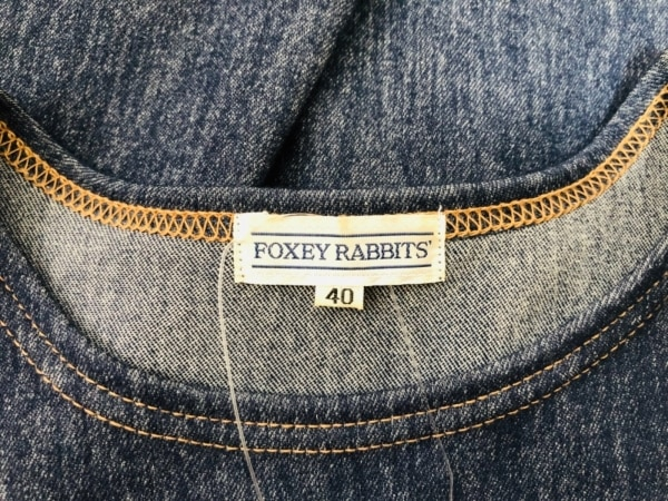FOXEY RABBITS'(フォクシーラビッツ) ワンピース サイズ40 M レディース ネイビー