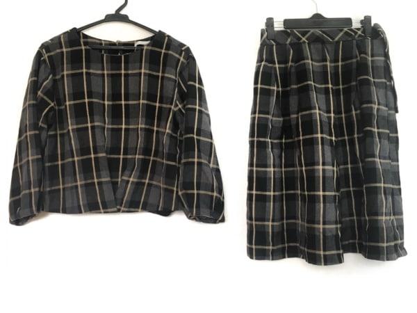 OPAQUE(オペーク) スカートセットアップ サイズ38 M レディース グレー×黒×ベージュ