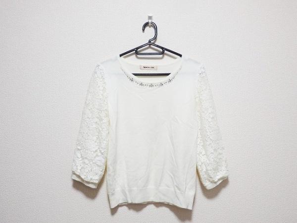 アプワイザーリッシェ 七分袖セーター サイズ2 M レディース アイボリー