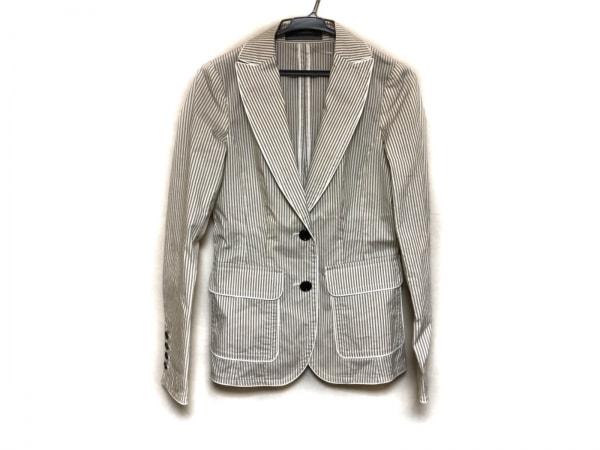 バーバリーブラックレーベル ジャケット サイズ40 M レディース美品  ベージュ×白
