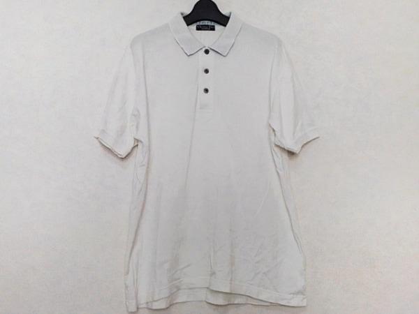 クリスチャンディオールムッシュ 半袖ポロシャツ サイズL メンズ美品  白×ブルー