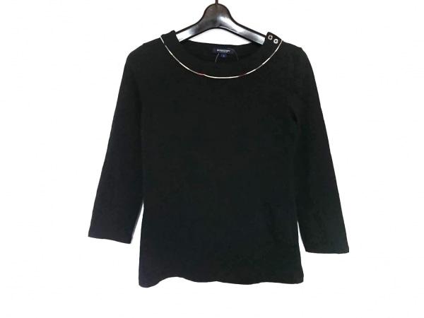 バーバリーロンドン 七分袖カットソー サイズ2 M レディース 黒×ベージュ×マルチ