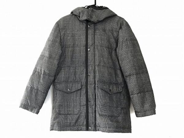 BVONO(ヴォーノ) ダウンコート サイズLL メンズ美品  黒×ライトグレー×マルチ 冬物