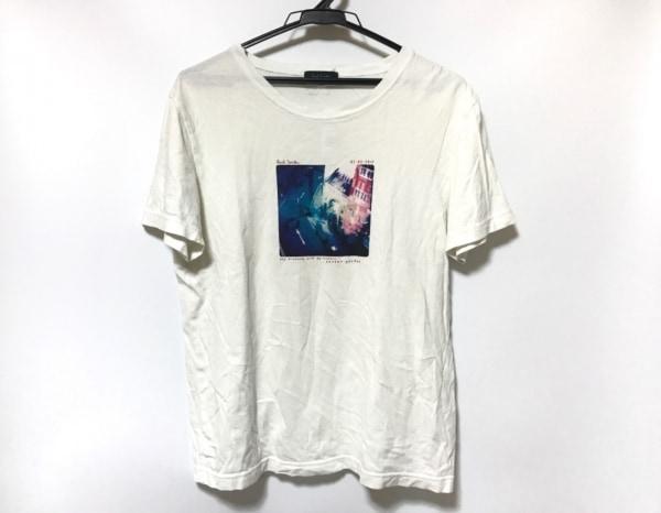 PaulSmith(ポールスミス) 半袖Tシャツ サイズL メンズ美品  白×マルチ