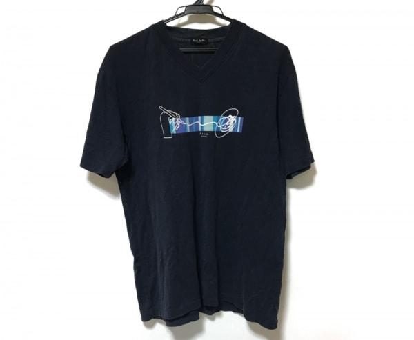 ポールスミス 半袖Tシャツ サイズF メンズ ダークネイビー×マルチ COLLECTION