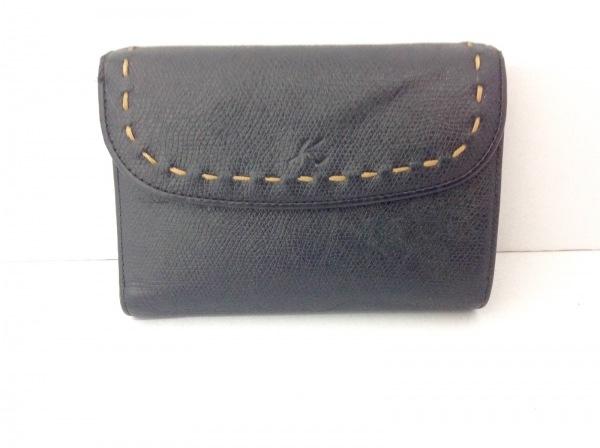 KITAMURA(キタムラ) 3つ折り財布 黒 レザー