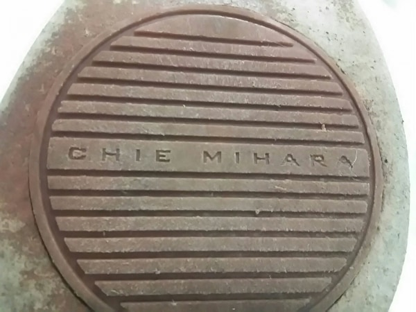 CHIE MIHARA(チエミハラ) サンダル 35 1/2 レディース 黒×ベージュ レザー