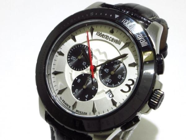 ロベルトカヴァリ 腕時計 - メンズ by FRANCK MULLER/革ベルト/クロノグラフ