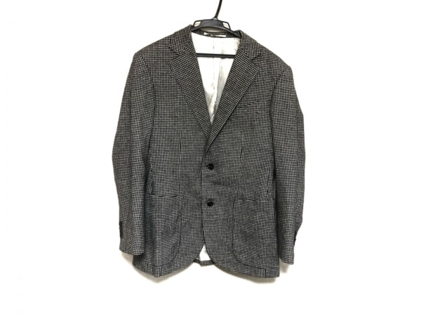 Takizawa Shigeru(タキザワシゲル) ジャケット メンズ美品  黒×白 チェック柄