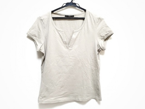 HUGOBOSS(ヒューゴボス) 半袖Tシャツ サイズXL レディース ベージュ