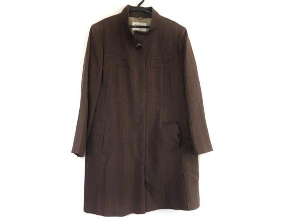 ROCHAS(ロシャス) コート サイズ13 L レディース美品  ブラウン 冬物