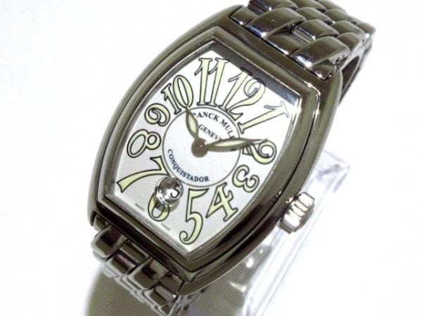 フランクミュラー 腕時計 コンキスタドール 8000L レディース SS アイボリー