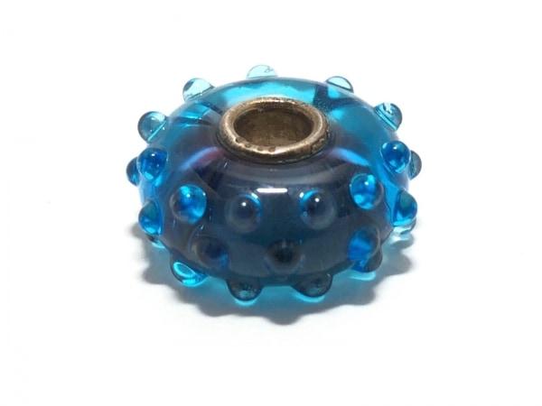 TROLLBEADS(トロールビーズ) ペンダントトップ ガラス×シルバー ブルー