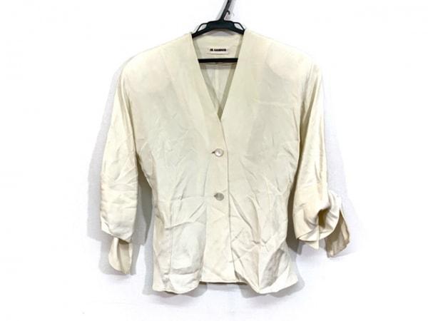 JILSANDER(ジルサンダー) ジャケット サイズ38 S レディース 白 シルク