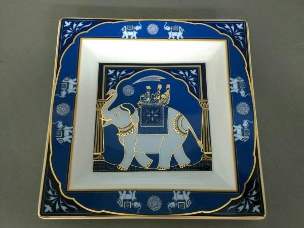 Rosenthal(ローゼンタール) プレート新品同様  白×ブルー×ゴールド 陶器