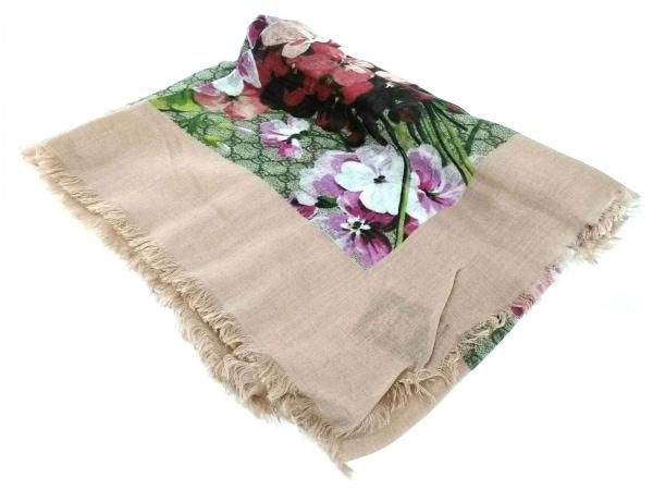 GUCCI(グッチ) スカーフ美品  ブルームス プリント モダールシルク ショール 417424