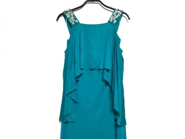 PINKO(ピンコ) ドレス サイズ40 M レディース グリーン フラワー/ラインストーン