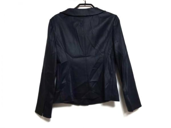 スウィンスウィング ジャケット サイズ40 M レディース 黒×ダークグレー ボーダー